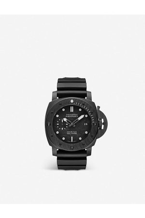 PANERAI Mens PAM00979 Submersible Marina Militare CARBOTECH™ and Rubber Watch 1 Size