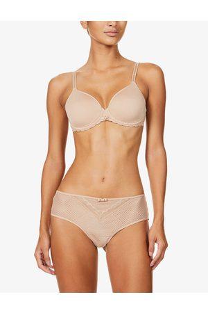 Chantelle Womens 0wu Nude Parisian Allure Stretch-woven bra 30DD