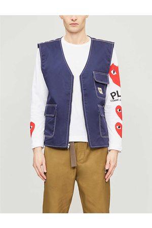 Comme des Garçons Mens Logo-print Cotton-jersey top S