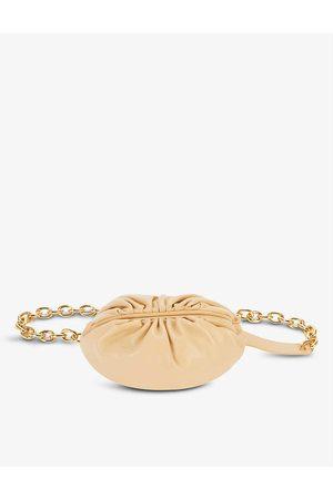 Bottega Veneta Womens Almond The Pouch Leather Bumbag