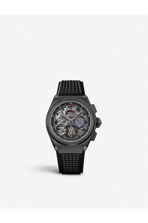 Zenith Mens 21 49.9000.9004/78.R782 Defy El Primero 21 Black Ceramic Automatic Watch