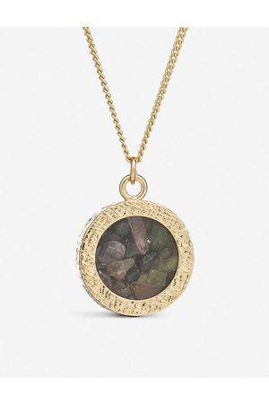 Rachel Jackson Womens 22 Carat Plated Birthstone Amulet October Tourmaline and 22ct -plated Sterling Silver Necklace 1SIZE
