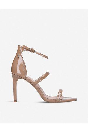 Kurt Geiger Womens Camel Park Lane Stiletto Patent Leather Sandals EUR 36 / 3 UK Women