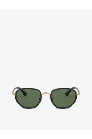 Persol Mens PO2471S Metal and Crystal Sunglasses