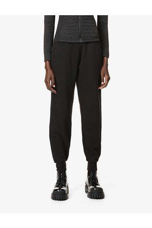 Moncler Womens Pantalone Brand-badge Cotton-blend Jersey Trousers XS