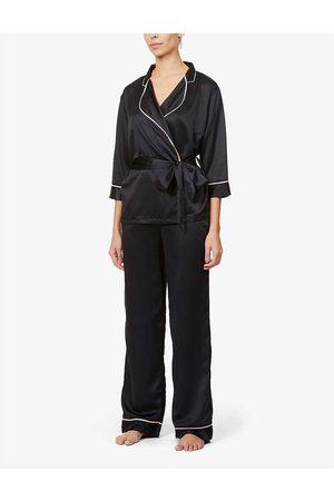 BlueBella Womens Wren Kimono-style Satin Pyjama set 10