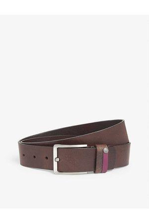 Ted Baker Mens Chocolate Keepsak Leather Belt 36
