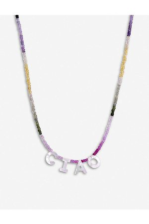 Roxanne First Womens Multi-coloured Sapphire and Mother of Pearl Necklace 1SIZE