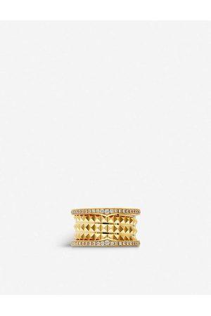 Bvlgari Womens B.zero1 18ct - and Diamond Pavé Ring 50mm