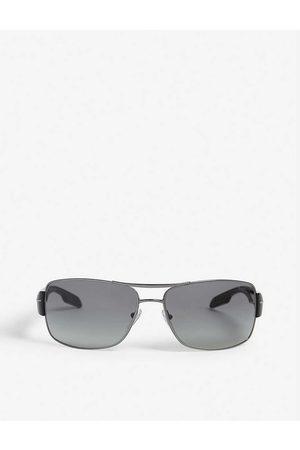 Prada Linea Rossa Mens Aviator Sunglasses