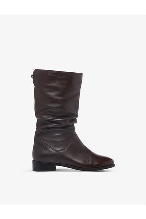 Dune Womens -leather Rosalinda Ruched Leather Boots EUR 36 / 3 UK Women