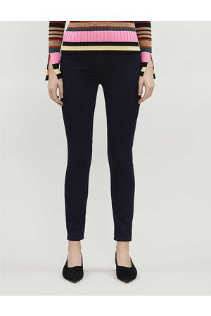 7 for all Mankind Womens Luxe Certainty Aubrey Skinny High-rise Stretch-denim Jeans 23