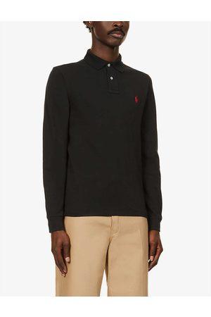 Polo Ralph Lauren Mens Polo Logo-embroidered Cotton-piqué Polo Shirt S