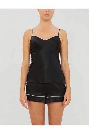 Agent Provocateur Womens Classic Silk-satin Pyjama Shorts S