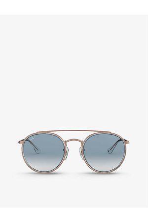 Ray-Ban Mens Transparent (Transparent) RB3647N Phantos-frame Metal Sunglasses