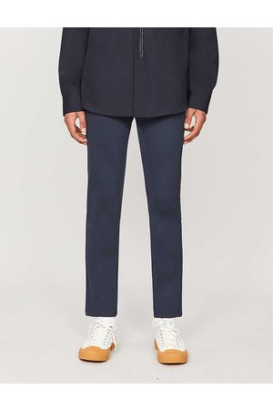 Paige Mens Deep Anchor Stafford Stretch-jersey Trousers 28