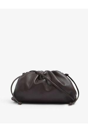 Bottega Veneta Womens Fondente- The Pouch Small Leather Clutch bag