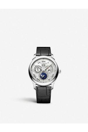 Chopard Mens 161927-1001 L.U.C Lunar One 18ct - and Alligator-embossed Leather Watch