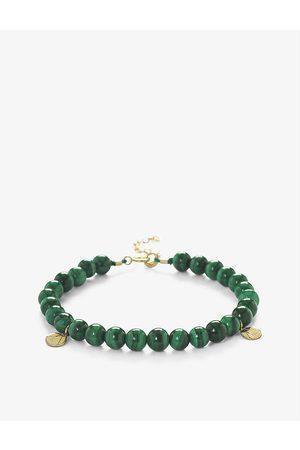 The Alkemistry Womens Cinta 18ct Yellow Gold and Malachite Beaded Bracelet 1SIZE