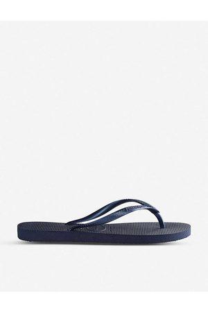 Havaianas Womens Slim Navy Slim Rubber Flip-flops 1/2