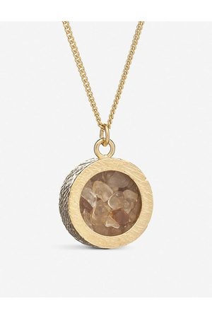Rachel Jackson Womens 22 Carat Plated Birthstone Amulet November Citrine and 22ct -plated Sterling Silver Necklace 1SIZE