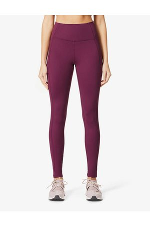 GIRLFRIEND COLLECTIVE Womens Plum Compressive High-rise Stretch-recycled Polyester Leggings XXS