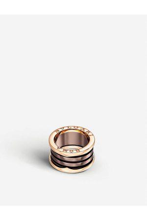 Bvlgari B.zero1 Roma four-band 18kt pink- and bronze ceramic ring