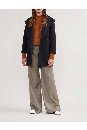 Max Mara Ladies Camel Hair Patch Pocket Timeless Rialto Coat