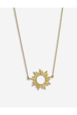 Rachel Jackson Womens 22 Carat Plated Electric Goddess Mini 22ct -plated Sterling Silver sun Necklace 1SIZE