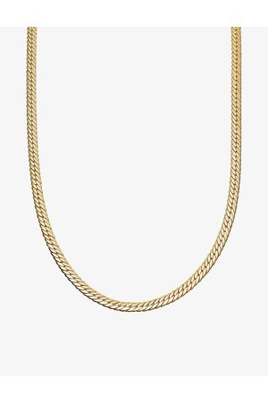Missoma Womens Camail 18ct -plated Snake Chain Necklace