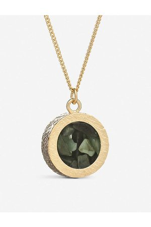 Rachel Jackson Womens 22 Carat Plated Birthstone Amulet May Emerald and 22ct -plated Sterling Silver Necklace 1SIZE