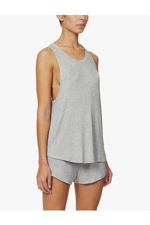 Eberjey Womens Heather Elon Stretch-woven Pyjama Vest top S