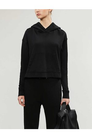 James Perse Cropped cotton-jersey hoody