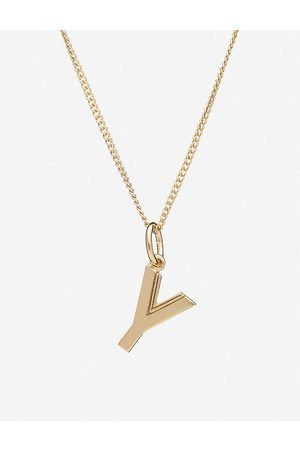 Rachel Jackson Womens 22 Carat Plated Initial 22ct -plated Sterling Silver Necklace 1SIZE