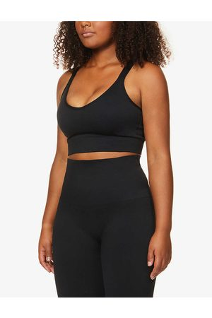Spanx Womens Very Look At Me Now Moto Low-impact Stretch-woven Sports bra XS