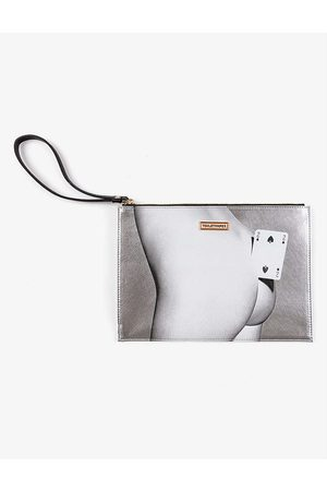 SELETTI Womens Toiletpaper Loves Two of Spades Pouch bag