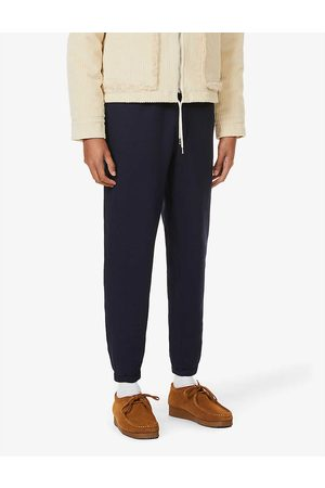 Polo Ralph Lauren Mens Cruise Navy Logo-embroidered Mid-rise Cotton-blend Jersey Jogging Bottoms S