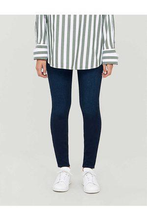 Spanx Womens Twilight Rinse Jean-ish Cotton-blend Leggings XS