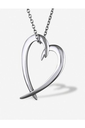 SHAUN LEANE Womens Heart Sterling-silver Pendant Necklace