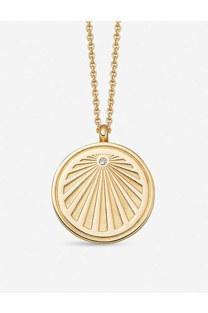 ASTLEY CLARKE Women Necklaces - Celestial Sunrise 18ct -plated vermeil silver and sapphire necklace