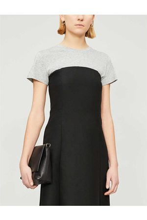 Vince Womens Heather Essential Round-neck Pima Cotton T-shirt XS