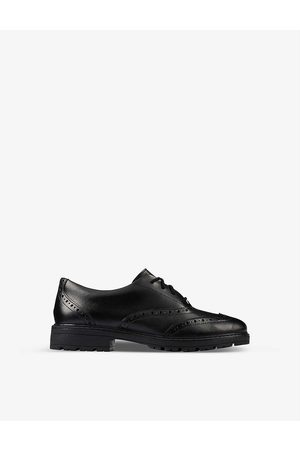 Clarks Boys Leather Kids Loxham Leather Brogues 9-12 Years 3F