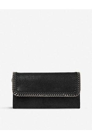 Stella McCartney Women's Falabella Faux-Suede Continental Wallet