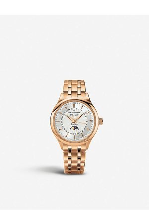 CARL F. BUCHERER Mens 00.10909.03.13.21 Manero Moonphase 18ct Rose-gold Watch