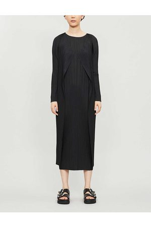 PLEATS PLEASE ISSEY MIYAKE Womens Basic Semi-sheer Relaxed-fit Pleated Coat 3