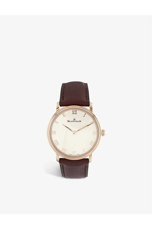 Blancpain 6605-3642-55B Villeret Ultraplate 40mm 18ct rose-gold and leather watch