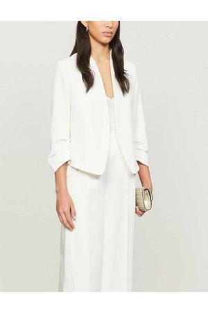 Ted Baker Womens Ivory (Cream) Cropped Sleeve Regular-fit Crepe Jacket 16