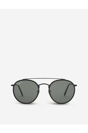 Ray-Ban Mens Classic Rb3647 Round-Frame Sunglasses