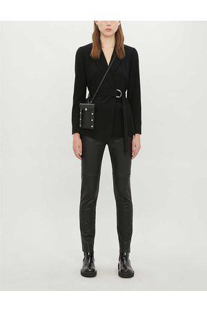 Claudie Pierlot Womens Buckled Regular-fit Crepe Blazer 6
