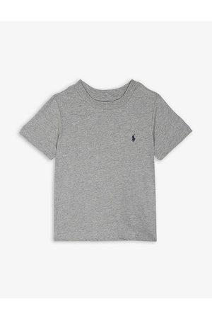 Ralph Lauren Boys Andover Heather Logo Cotton T-Shirt